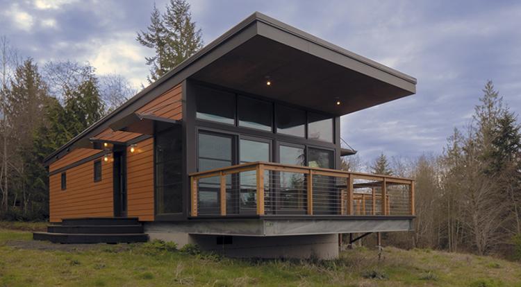 модульный дом с балконом