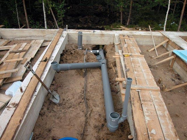 Установка канализации в модульном доме