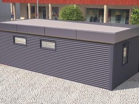 Модульные здания, модульная автомойка,вид сзади